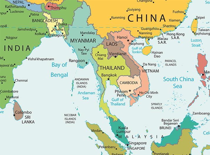 Landkarte Südostasien
